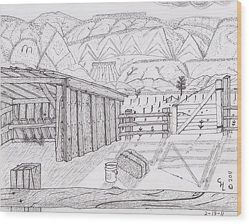 Shed 3 Wood Print by Clark Letellier