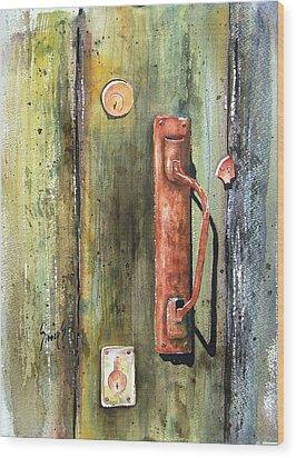 Shed Door Wood Print by Sam Sidders