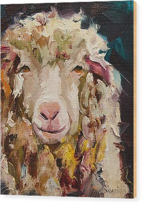 Sheep Alert Wood Print
