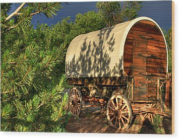 Sheep Herder's Wagon Wood Print