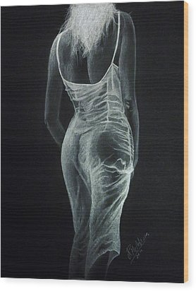Wood Print featuring the drawing Sheer Elegance by James McAdams