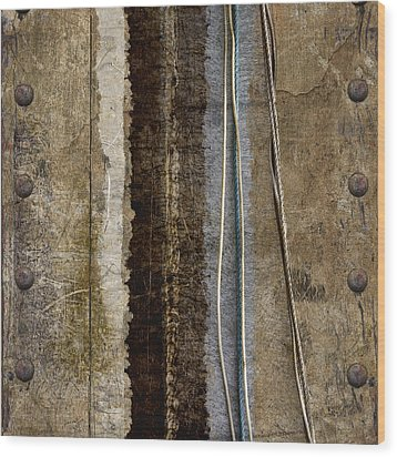 Sheetmetal Strings Wood Print by Carol Leigh