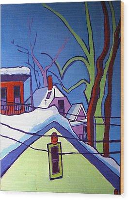 Sheffield Winter Wood Print by Debra Bretton Robinson