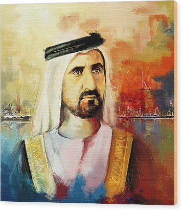 Sheikh Mohammed Bin Rashid Al Maktoum Wood Print by Corporate Art Task Force