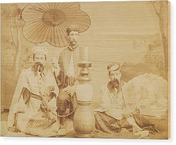 Wood Print featuring the photograph Sheiks by Paul Ashby Antique Image