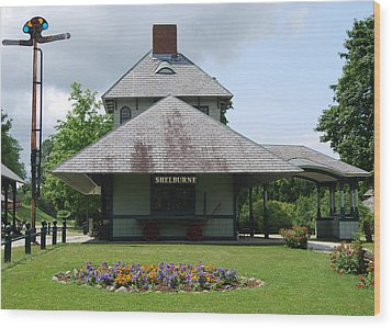 Wood Print featuring the photograph Shelburne Depot by Caroline Stella