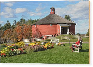 Wood Print featuring the photograph Shelburne Round Barn by Paul Miller