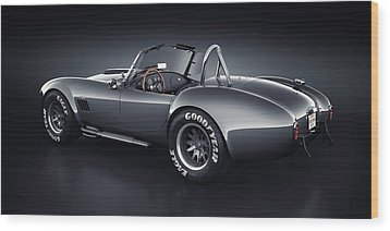 Wood Print featuring the digital art Shelby Cobra 427 - Venom by Marc Orphanos