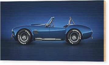 Wood Print featuring the digital art Shelby Cobra 427 - Water Snake by Marc Orphanos