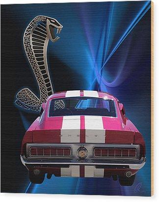 Shelby Cobra Gt-500 Wood Print by Chris Thomas