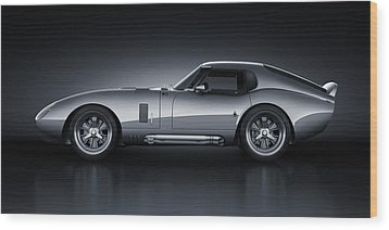 Wood Print featuring the digital art Shelby Daytona - Bullet by Marc Orphanos
