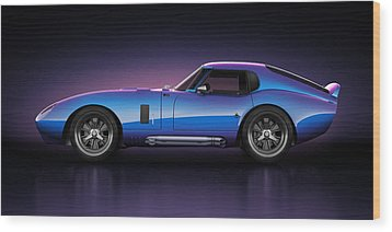 Shelby Daytona - Velocity Wood Print by Marc Orphanos