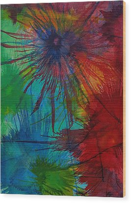 Shelbys  Flowers Wood Print