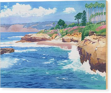 Shell Beach La Jolla Wood Print by Mary Helmreich
