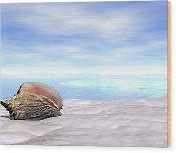 Shell Wood Print by John Pangia