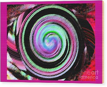 Wood Print featuring the digital art Shell Shocked Frame by Catherine Lott