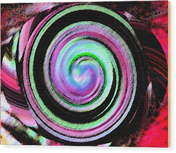 Wood Print featuring the digital art Shell Shocked Unframed by Catherine Lott