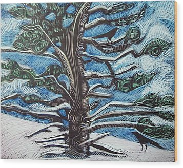 Shelter Wood Print by Grace Keown