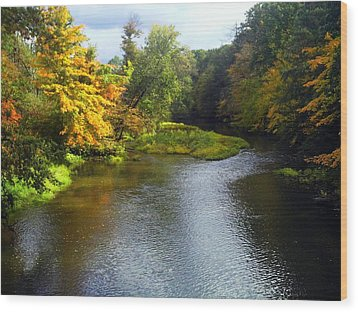 Shenago River @ Iron Bridge Wood Print by Joyce  Wasser