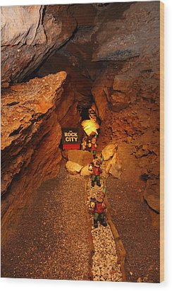 Shenandoah Caverns - 121210 Wood Print by DC Photographer