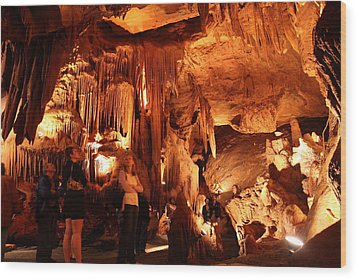 Shenandoah Caverns - 121261 Wood Print by DC Photographer