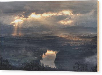 Shenandoah Light Wood Print by Lara Ellis