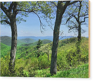Shenandoah Mountain Ridge Wood Print