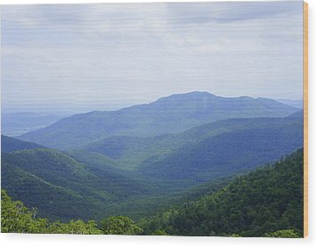 Wood Print featuring the photograph Shenandoah View by Laurie Perry