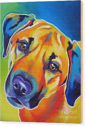 Rhodesian Ridgeback - Puppy Dog Eyes Wood Print