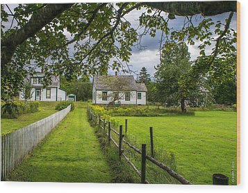 Sherbrooke Village Wood Print by Ken Morris