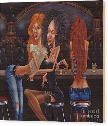 Sherry Chambord And Cognac -  Girls Night Out 1998 Wood Print by Larry Preston