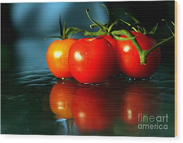 Sherry Tomatoes Wood Print by Arie Arik Chen