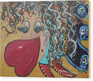 She's A Beauty Wood Print by Eloise Schneider