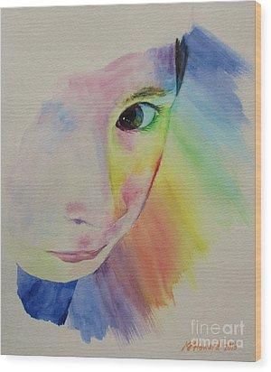 She's A Rainbow Wood Print