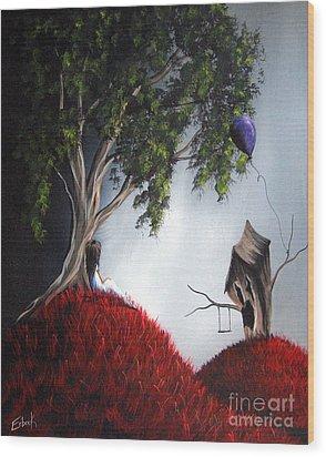 She's Just An Illusion By Shawna Erback Wood Print by Shawna Erback