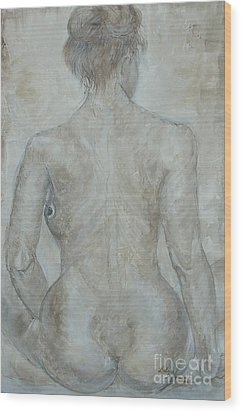 Wood Print featuring the painting She's The One by Delona Seserman