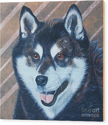 Shiba Inu Wood Print by PainterArtist FINs husband Maestro