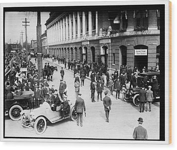Shibe Park 1914 Wood Print by Bill Cannon
