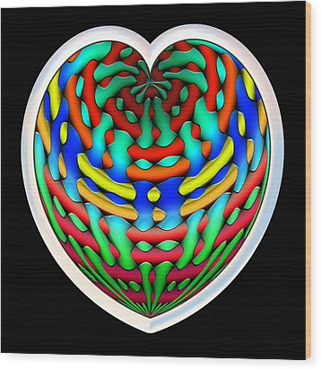 Shielded - Silver Wood Print by Wendy J St Christopher