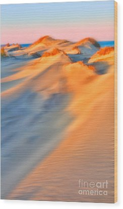 Shifting Sands - A Tranquil Moments Landscape Wood Print by Dan Carmichael