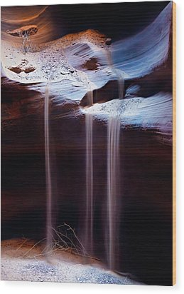 Shifting Sands Wood Print by Dave Bowman