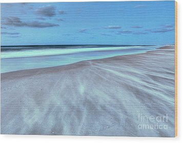 Shifting Sands On Frisco Beach Outer Banks I Wood Print by Dan Carmichael