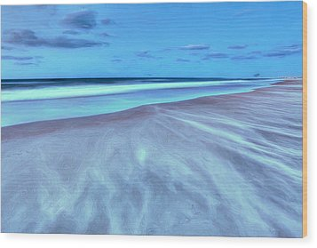 Shifting Sands On Frisco Beach Outer Banks II Wood Print by Dan Carmichael
