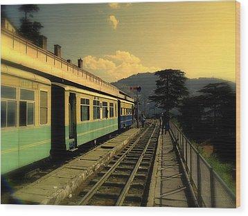 Shimla Railway Station Wood Print by Salman Ravish
