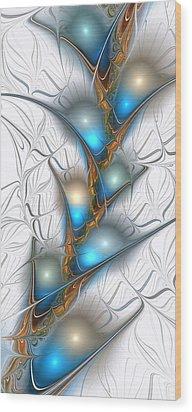 Shimmering Lights Wood Print by Anastasiya Malakhova