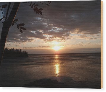 Wood Print featuring the photograph Shimmering Sunrise by James Peterson