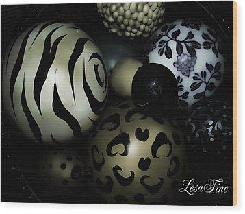 Shimmery Spheres Wood Print