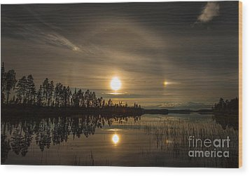 Wood Print featuring the photograph shine like a Halo by Rose-Maries Pictures