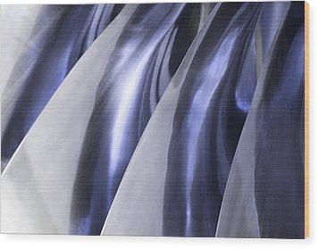 Shine On Metal - Blue Tones Wood Print by Natalie Kinnear