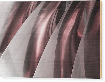 Shine On Metal - Burgundy Tones Wood Print by Natalie Kinnear